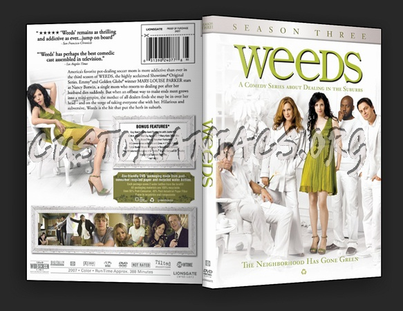 weeds season 3 dvd. Weeds - Season 3 dvd cover