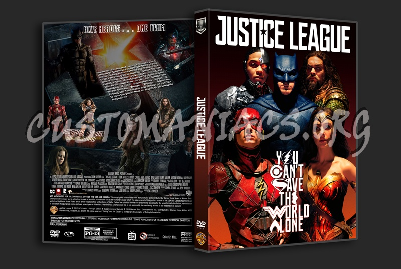 Justice League (2017) dvd cover