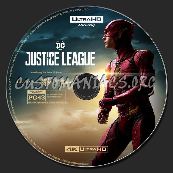 Justice League (2D/3D/4K) blu-ray label