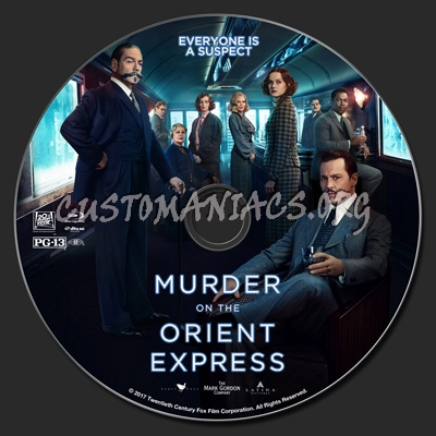 Murder On The Orient Express (2017) blu-ray label