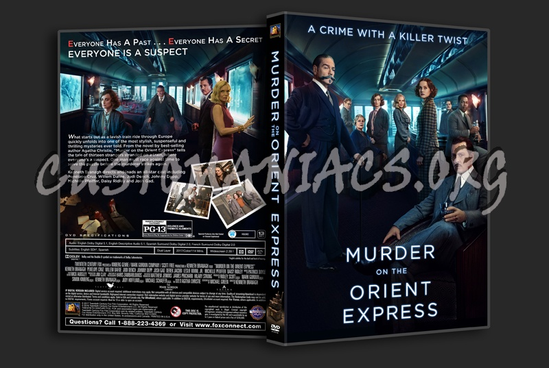 Murder On The Orient Express (2017) dvd cover