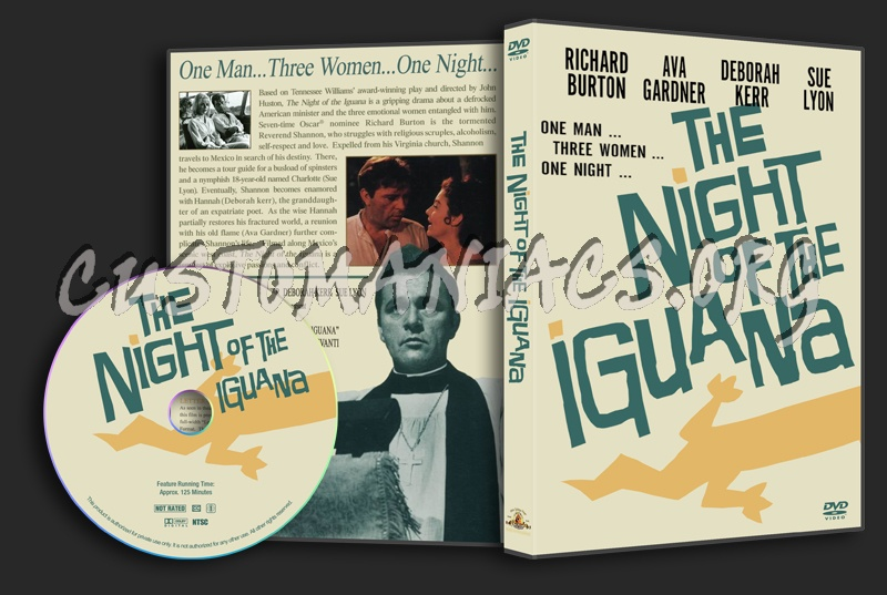 The Night Of The Iguana dvd cover