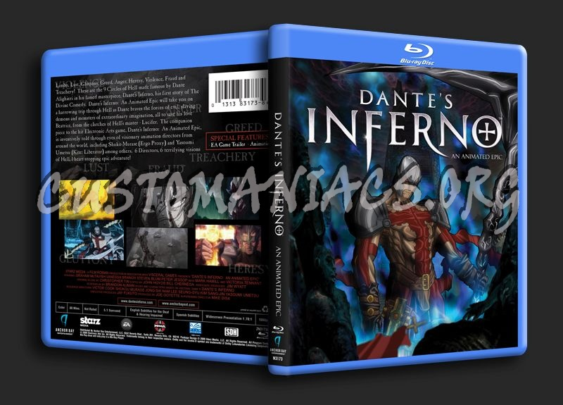 Dante's Inferno blu-ray cover