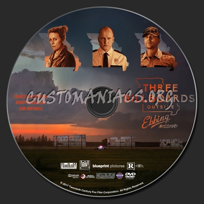 Three Billboards Outside Ebbing Missouri dvd label