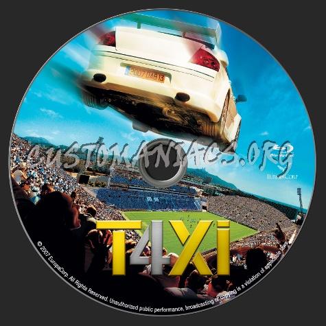 Taxi 4 blu-ray label