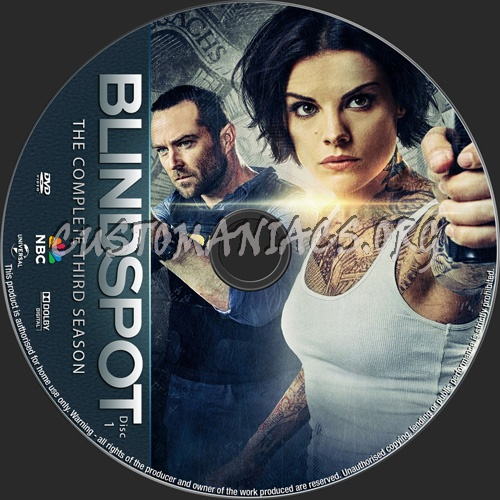 Blindspot Season 3 dvd label