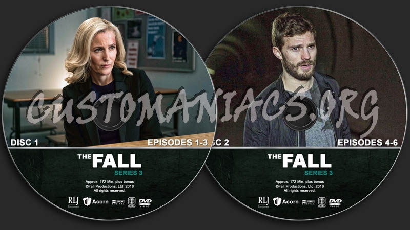 The Fall - Series 3 dvd label - DVD Covers & Labels by Customaniacs