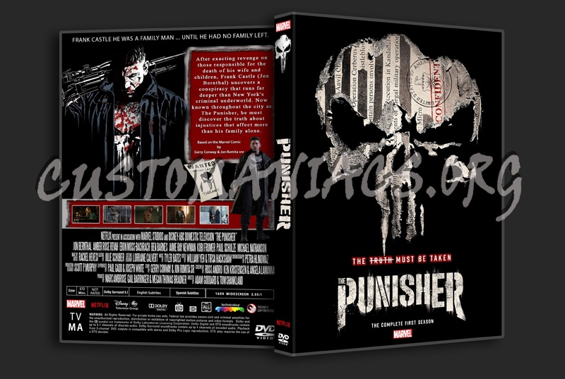 The Punisher Season 1 dvd cover