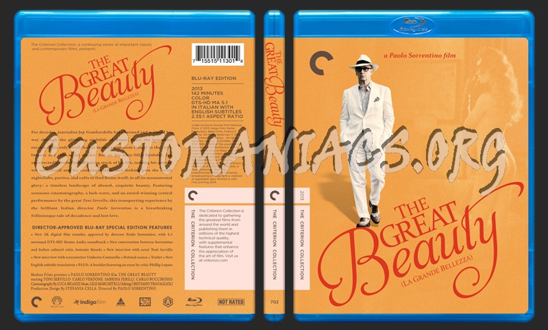 702 - The Great Beauty blu-ray cover