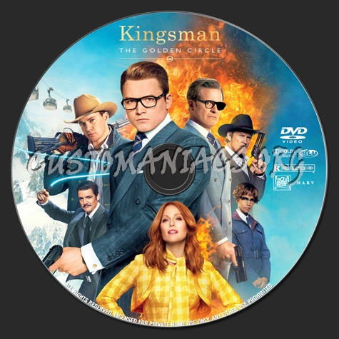 Kingsman: The Golden Circle dvd label