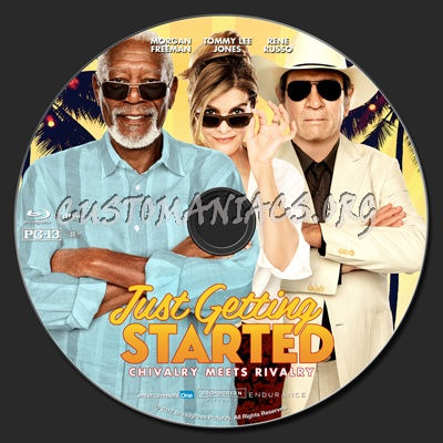 Just Getting Started blu-ray label