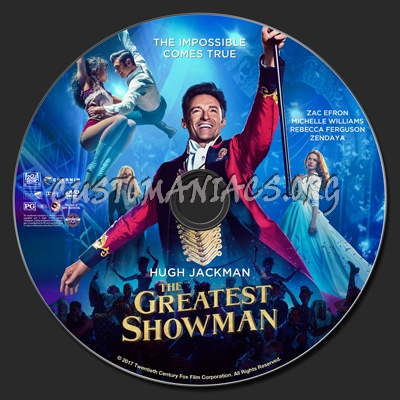 The Greatest Showman dvd label