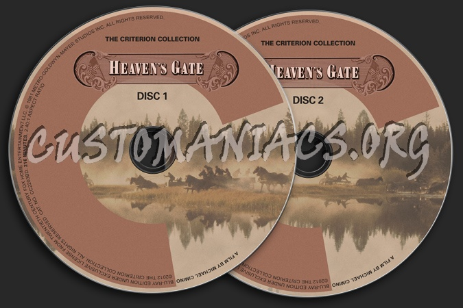 636 - Heaven's Gate dvd label
