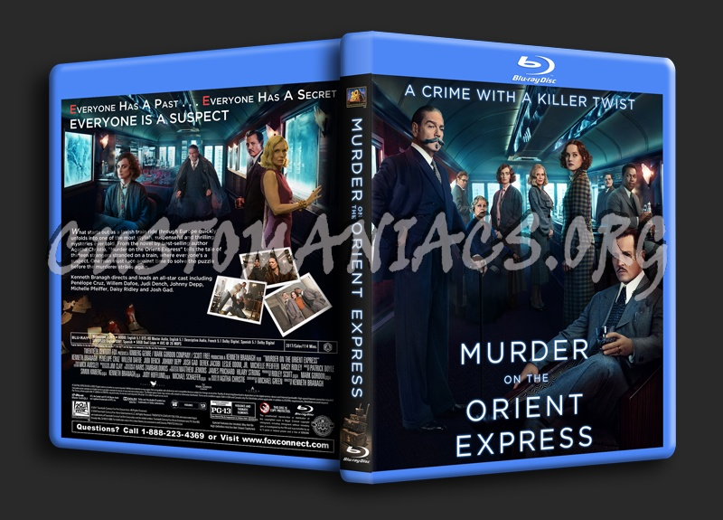 Murder On The Orient Express (2017) blu-ray cover