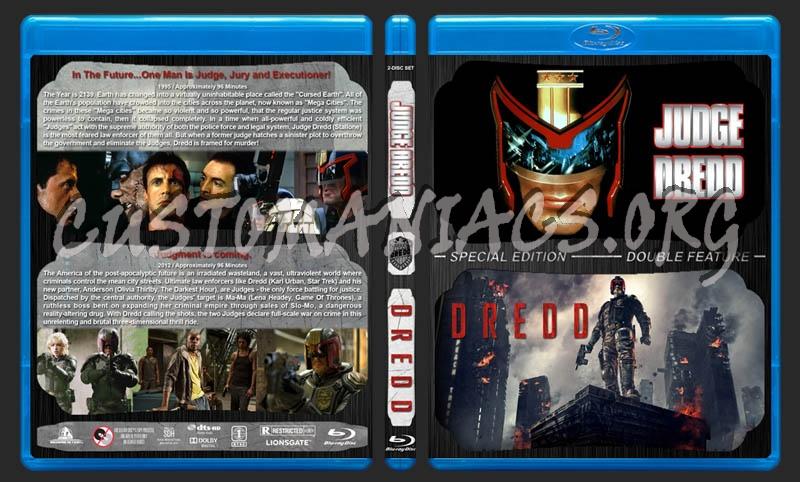 Judge Dredd / Dredd Double Feature blu-ray cover