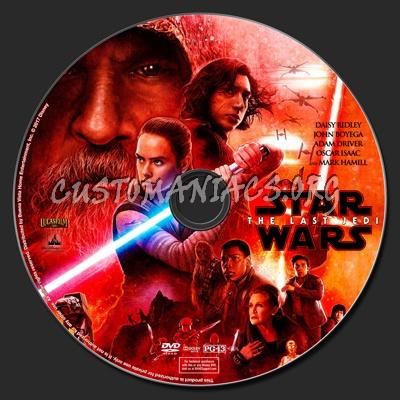 Star Wars: The Last Jedi dvd label