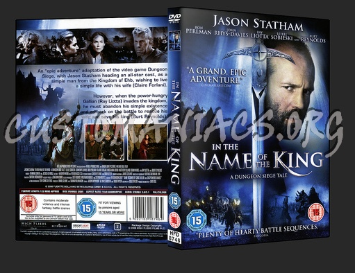In The Name of The King dvd cover