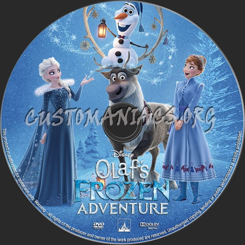 Olaf\'s Frozen Adventure dvd label