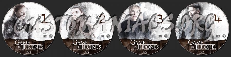 Game of Thrones Season 7 blu-ray label
