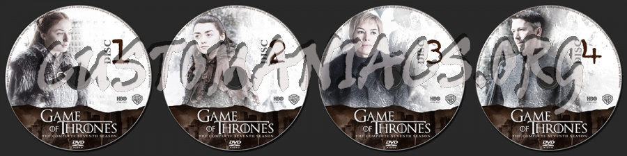 Game of Thrones Season 7 dvd label