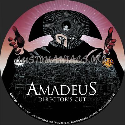Amadeus (directors cut) dvd label