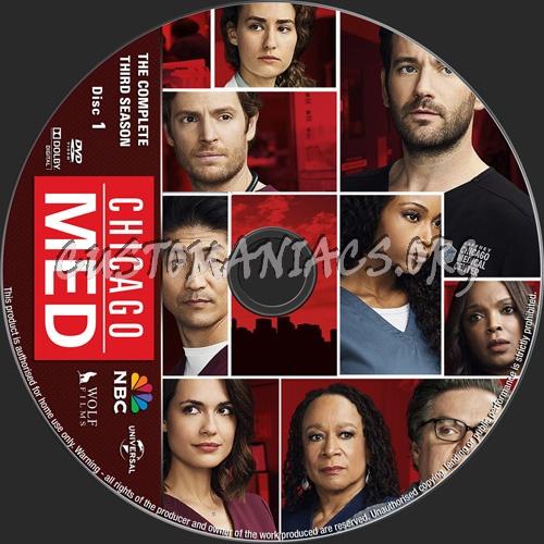 Chicago Med Season 3 dvd label