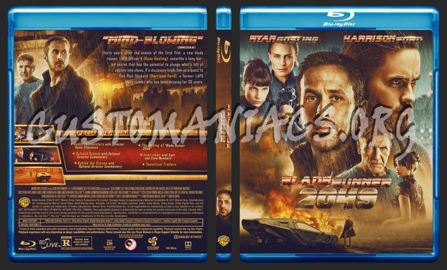 Blade Runner 2049 blu-ray cover