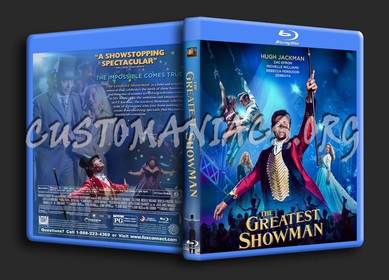 The Greatest Showman blu-ray cover