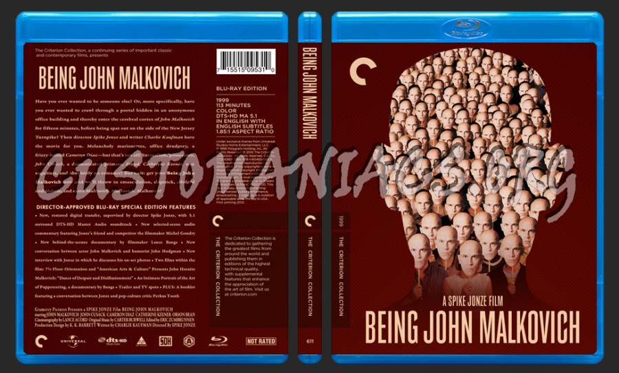611 - Being John Malkovich blu-ray cover