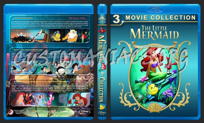 The Little Mermaid Collection blu-ray cover