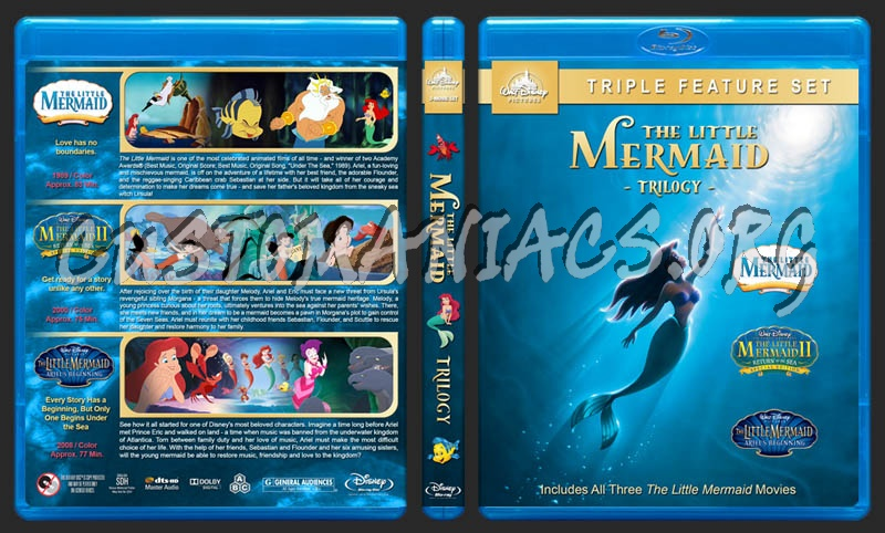 The Little Mermaid Trilogy blu-ray cover