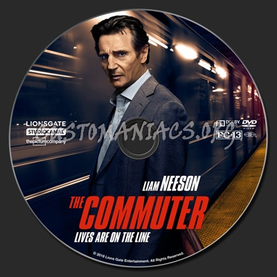 The Commuter dvd label