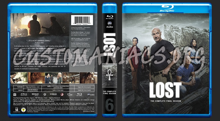 LOST - The Complete Final Season blu-ray cover - DVD Covers