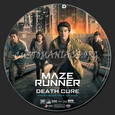 Maze Runner: The Death Cure blu-ray label
