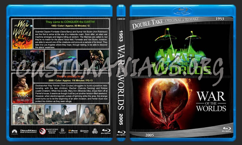 War of the Worlds Double Feature blu-ray cover