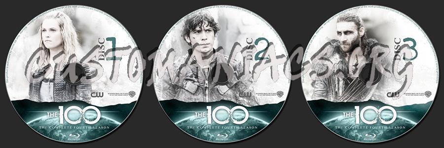 The 100 Season 4 blu-ray label