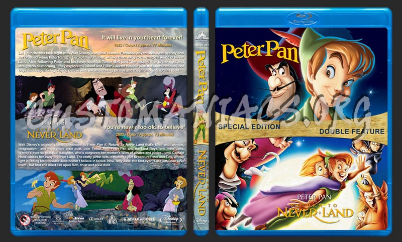 Peter Pan Double Feature blu-ray cover