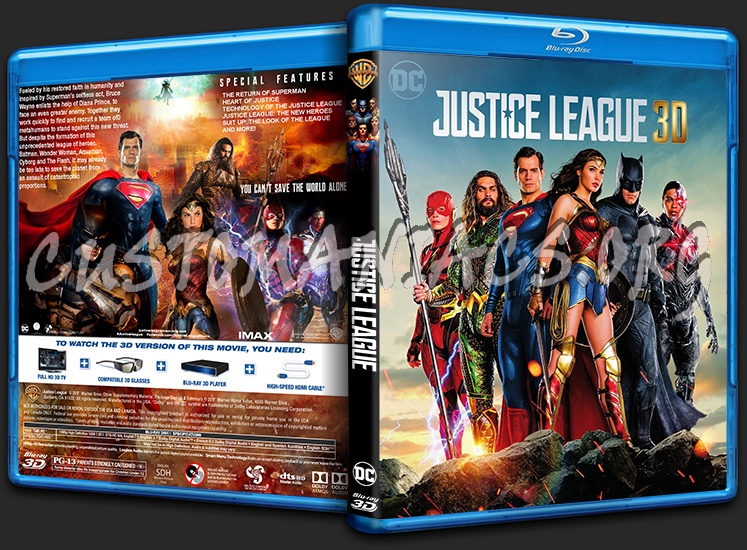 Justice League 3D blu-ray cover