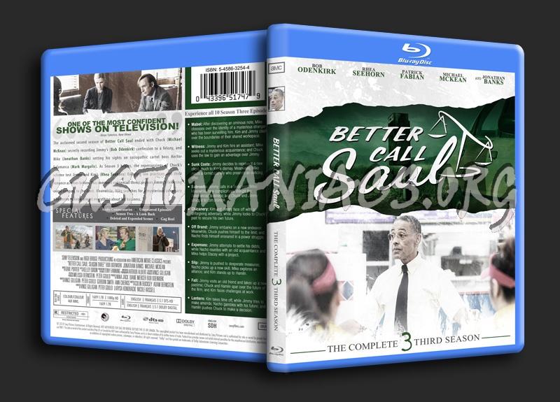 Better Call Saul Season 3 blu-ray cover