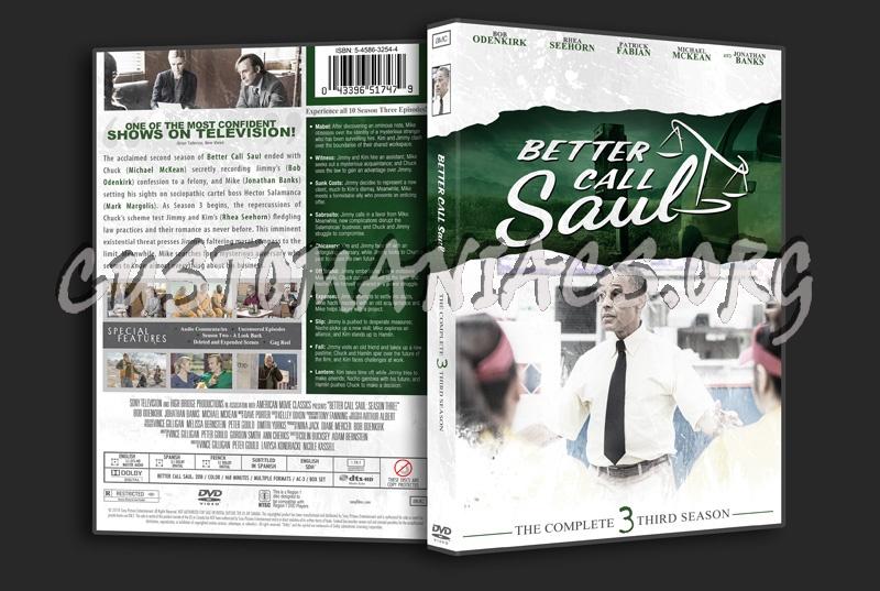 Better Call Saul Season 3 dvd cover