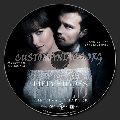 Fifty Shades Freed dvd label