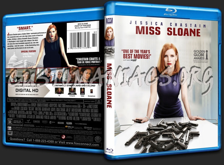 Miss Sloane blu-ray cover