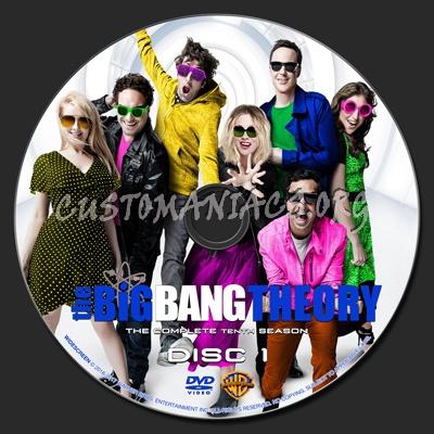 The Big Bang Theory Season 10 dvd label