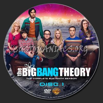 The Big Bang Theory Season 11 dvd label