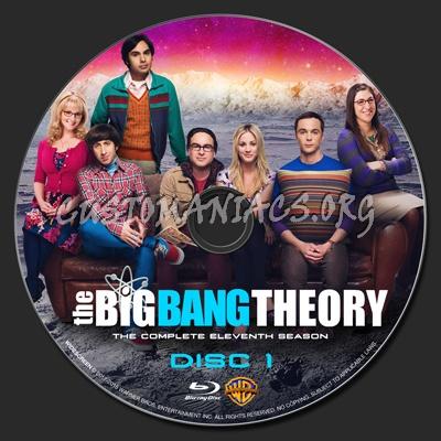The Big Bang Theory Season 11 blu-ray label