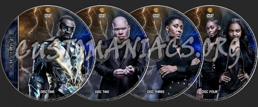 Black Lightning dvd label