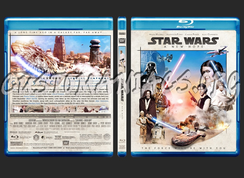Star Wars Episode Iv A New Hope Blu Ray Cover Dvd Covers Labels By Customaniacs Id 251162 Free Download Highres Blu Ray Cover