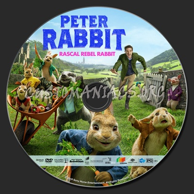 Peter Rabbit 2018 Dvd Label Dvd Covers Labels By Customaniacs Id 251188 Free Download Highres Dvd Label