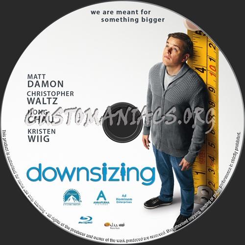 Downsizing blu-ray label