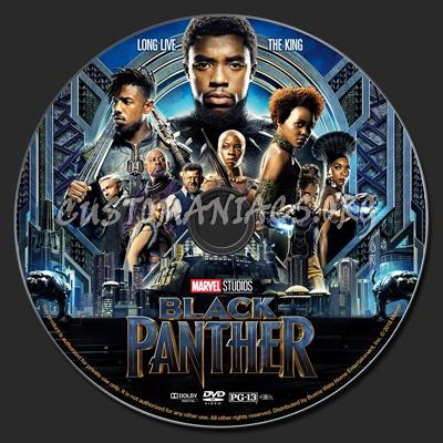 Black Panther (2018) dvd label